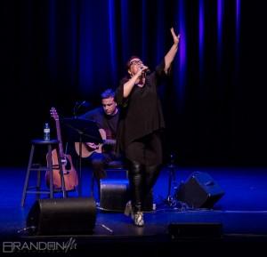 Sharron Matthews performs